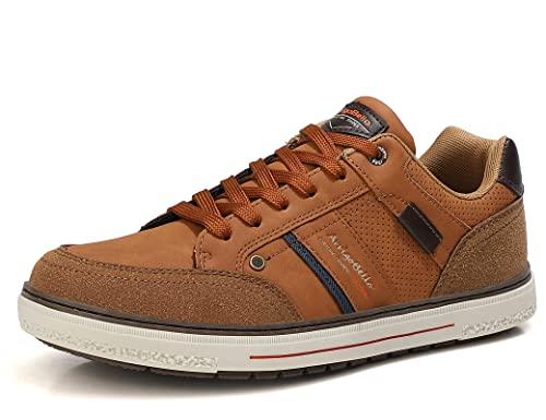 ARRIGO BELLO Hombre Zapatos Vestir Casual Zapatillas Deportivas Transpirables Sneaker Caminar Correr Cómodo Casuales Moda Negocio Talla 41-46(W Marrón, Numeric_41)