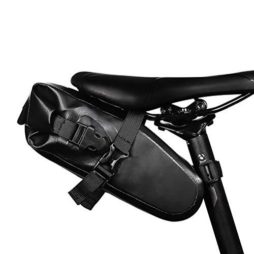 Sacoche de Vélo ÉTanche, avec Bande Réfléchissante, Double Boucle de Grande Capacité, Sacoche de Vélo Route et Autres Vélos, Noir