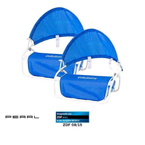 PEARL Sonnenschutz Kopf Strand: Nacken-Kissen mit Sonnenschutz für Strand und Outdoor 2er-Set (Kopfstütze Strand)