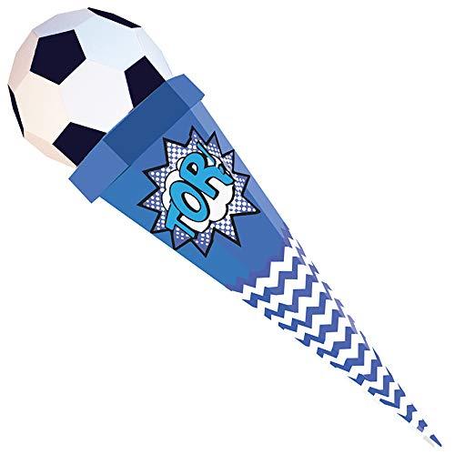 Der kleine Knick Schultüte in verschiedenen Designs (Fußball Blau/Weiß)