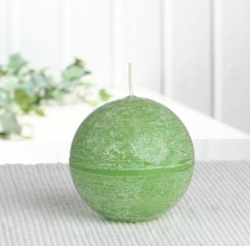 Rustik-Kugelkerze, 6 cm Ø, apfelgrün