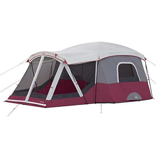 Core 11P Cabin Tent with Screen Room (Wine)