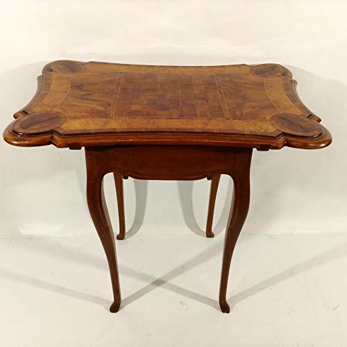 Arabesce Antique Shop Außergewöhnlicher Spieltisch Schachtisch des Barock BZW. Rokoko. Selten ! Intarsien ! Salon-Tisch des 18. Jahrhundert Wohnzimmer Schlafzimmer Arbeitszimmer Esszimmer