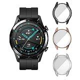 [3 Pack] ELYCO pour Huawei Watch GT 2 (46mm) Protecteur D'écran Coque, [Anti-Rayures] Couverture Totale TPU Cas Protection D'écran pour Huawei Watch GT 2 46mm