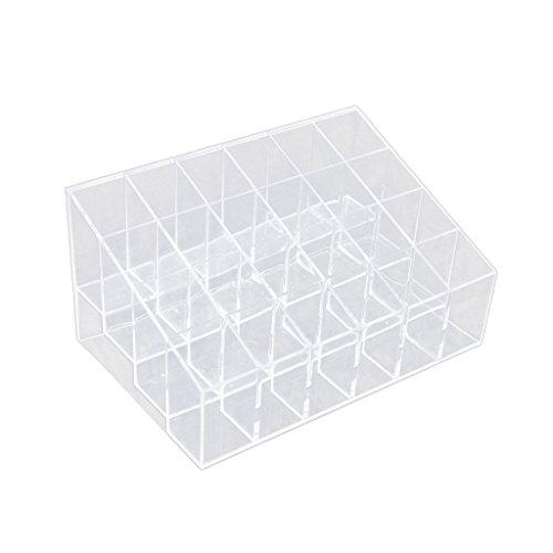 Caja de almacenamiento para pintalabios, 24 cajas de almacenamiento, organizador de cosméticos, caja de plástico para almacenamiento en el hogar (24 cuadrículas)
