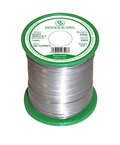 Brofil 1 bobine à souder électronique étain cuivre, diamètre du fil : Ø 1 mm