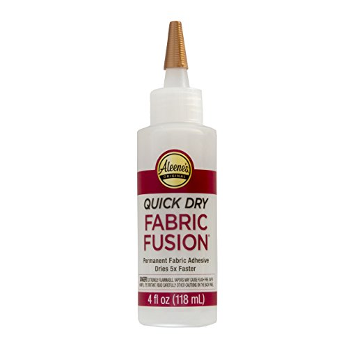Aleene's Quick Dry fabric Fusion Permanent Fabric Adhesive, 4-Ounce