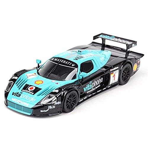 min min Modelo de Coche 1:24 / Compatible con Maserati/Simulación MaserAtimc12 MaserAtimc12 Racing Modelo (Color: Azul) (Color : Blue)