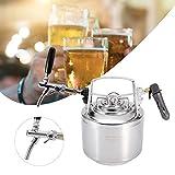Sistema de barril de cerveza, sistema de barril de cerveza de coque de acero inoxidable con kit de grifo ajustable para dispensar cerveza casera, para cerveza artesanal, barril y cerveza casera(6L)
