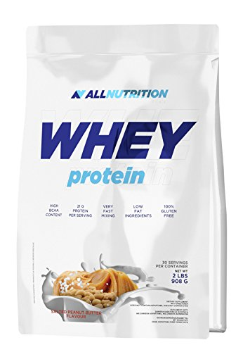 All Nutrition Proteine Del Siero Polvere, Caramello Salato - 910 g