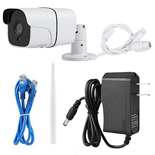 Cámara de visión nocturna de gran angular Conexión inalámbrica WiFi Red 720P con(100-240V U.S. regulations)