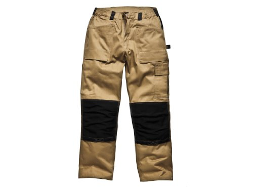Dickies - 493042RK - Pantalon de travail Marron (Kaki/noir) FR 52W (Regular) (Import Grande Bretagne)