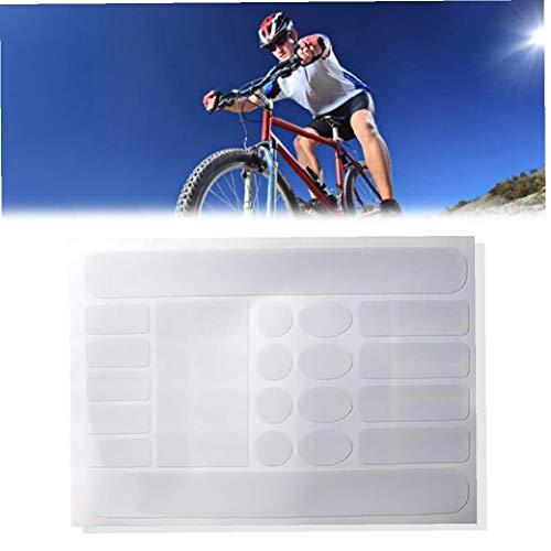 Marco 1sheet Bicicletas De Vaina Pegatinas De Vaina Protector Resistente del Rasguño Cinta Engomada De La Bici del Protector Protector De La Bici del Camino (Transparente)