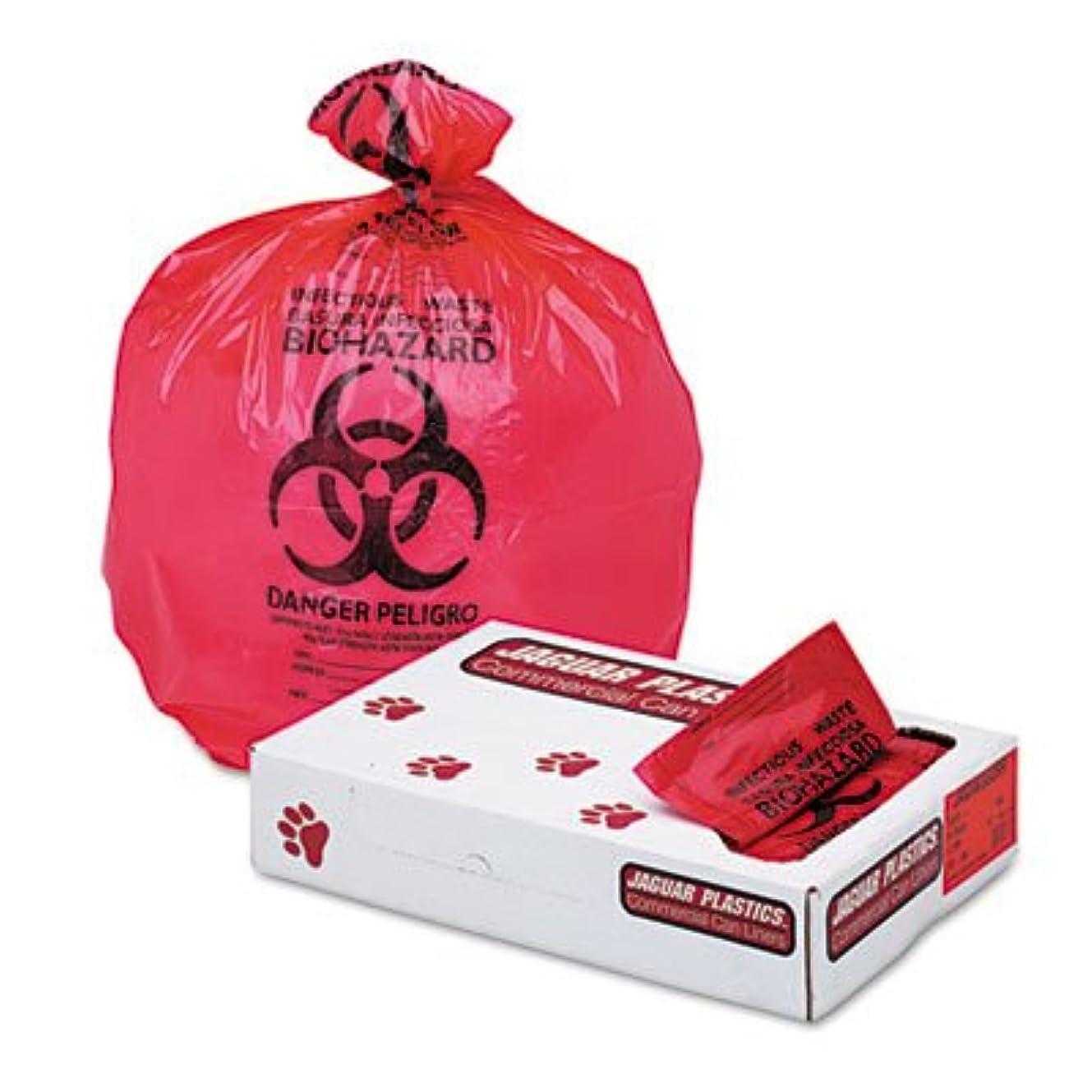 社員ゆり狂うジャガープラスチックiw3339rヘルスケア「バイオハザード」プリントLiners、1.3?Mil、33?x 39、赤、150?/カートン