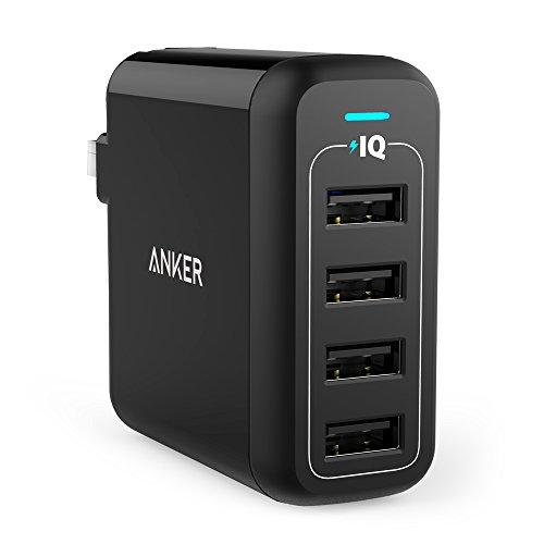 Anker PowerPort 4 (40W 4ポート USB急速充電器) マルチポート 折りたたみ式プラグ搭載 iPhone/ iPad/ Ando...
