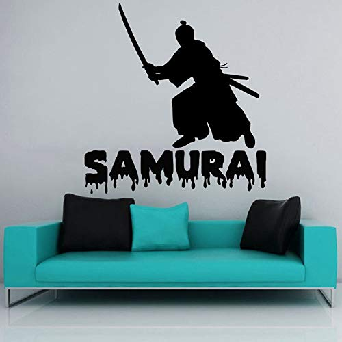 Blrpbc Adesivi da Parete Adesivi Murali Kendo Sticker Samurai Decal Ninja Poster Vinyl Art Warrior Decor murale Kendo Sticker 146x154cm