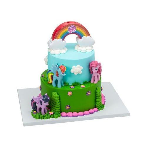 Fabulous Amazon Com My Little Pony Cake Decorating Kit Kitchen Dining Funny Birthday Cards Online Overcheapnameinfo