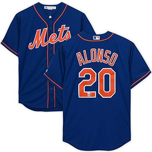 PETE ALONSO Autographed Mets Blue Majestic Jersey FANATICS - Autographed MLB Jerseys