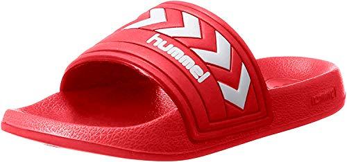 hummel Unisex-Erwachsene Larsen Slipper SMU Dusch- & Badeschuhe, Rot (True Red), 36 EU