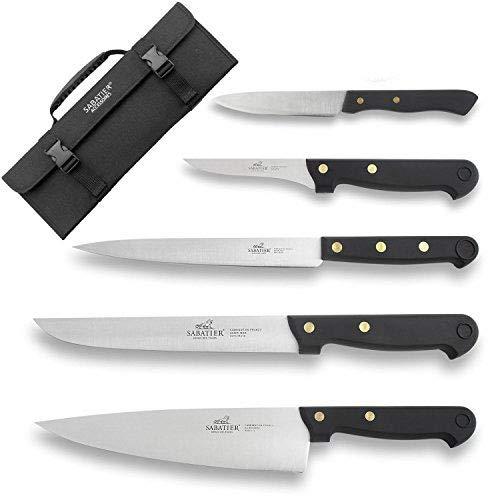Sabatier - Bolsa con juego de cuchillos de cocina, 5 piezas, acero inoxidable | Cuisine d'Aujourd'hui