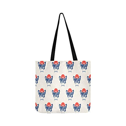 Best Reusable Grocery Bags Cartoon Hat Dog Friendly Pet Box Grocery Bags Canvas Tote Bag Women For Shopping Groceries Books Produce Bags Grocery Reusable