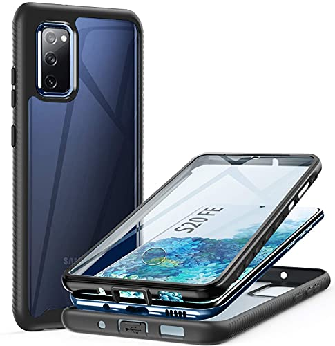 ivencase Hülle Kompatibel mit Samsung Galaxy S20 FE 4G/5G, 360° R&umschutz Robust Bumper Hülle Handyhülle Mit Eingebautem Bildschirmschutz, Stoßfest Kratzfeste Schutzhülle Samsung S20 FE 4G/5G