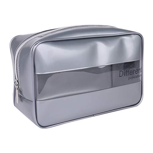 Catyrre Nähen dreidimensionale wasserdichte PVC-Kosmetiktasche - tragbare Make-up Aufbewahrungstasche transparente kosmetische Box Patch Tuch Waschbeutel