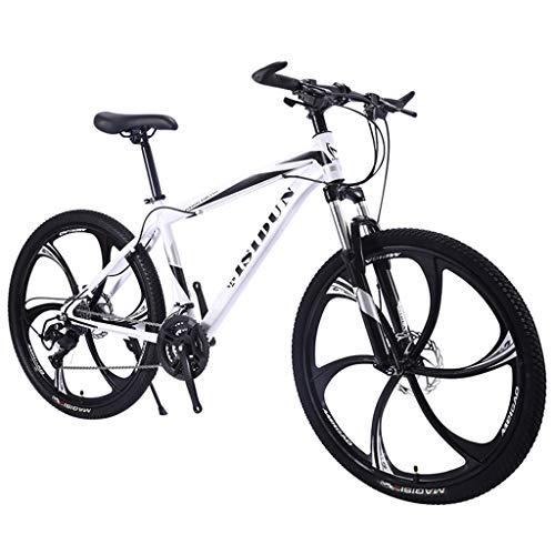 QJ Bicicleta de montaña, 21Speed MTB con Amortiguador de Carrera en Carretera...