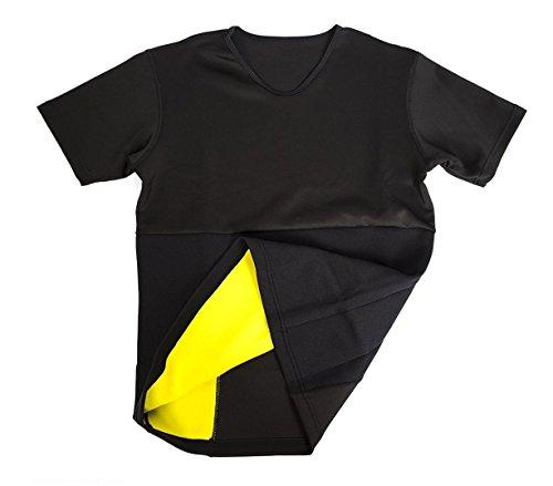 mws - T-Shirt Sauna Snellente in Neoprene Braccia e Addome da Donna dalla S alla XXL - XXL