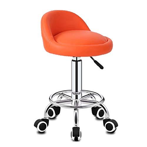 Lwjjby Hydraulische Massage und Salon Hocker Bürodrehstuhl Hocker mit Rückenlehne/Stuhl Hocker W/Rückenpolster & Räder (Color : A1)