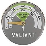 The Chemical Hut Magnetisches Valiant Ofentemperatur-Thermometer – Kaminofen Ofenrohr Kaminfeuer – mit antibakteriellem Stift