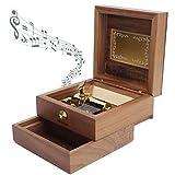 FECAMOS Carillon Squisito 30 Toni, Carillon Portagioielli retrò in Noce con Melodia Nitid...