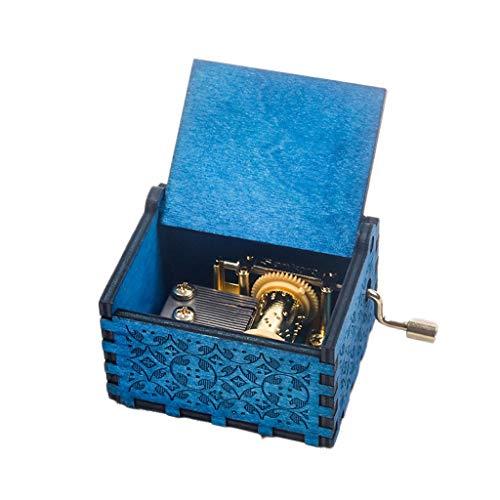 LILY-music box Boîte à Musique Manuelle Boîte à Musique en Bois créatif à Main manivelle, Classique sculpté boîte à Musique décoration Anniversaire Cadeau de Saint Valentin Bon Son (Color : A)
