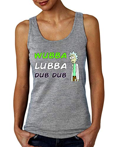 Rick Morty Wubba Lubba Dub Dub Camiseta sin Mangas para Mujer Small