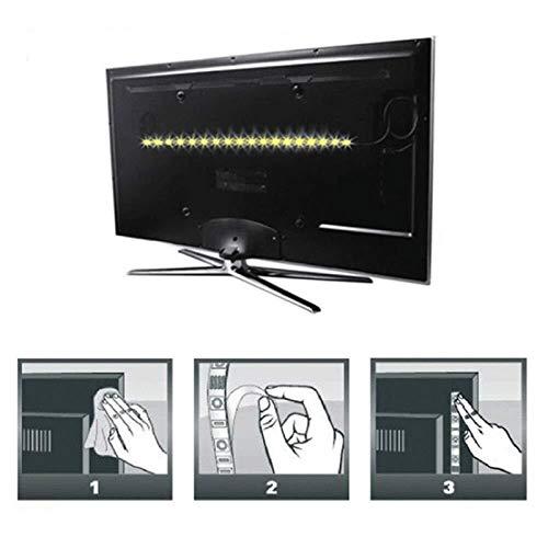 H/A 5V 5 M Cable USB Potencia LED Lámpara Luz SMD 3528 Tabla de Navidad Luces Decorativas con Luces de Fondo de TV TOM-EU (Color : White, Size : 5M)