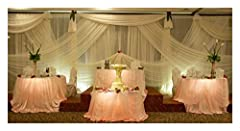 QUALITY: Pure voile Chiffon Fabric. Silky soft finish High quality white sheer Fabric mostly used in soft furnishings. USES: White voile fabric is used for decorating wedding and events. It is versatile and use for Backdrop Curtain -wedding arch -Dra...