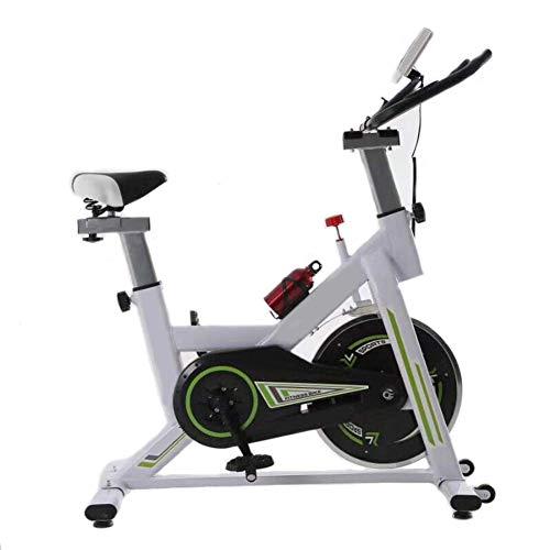 Wghz Bicicleta de Ciclismo de Interior, Bicicletas estacionarias, Volante silencioso con Volante Cromado con Monitor, cojín de Asiento Ajustable, Bicicleta de Entrenamiento para Bajar de Peso par