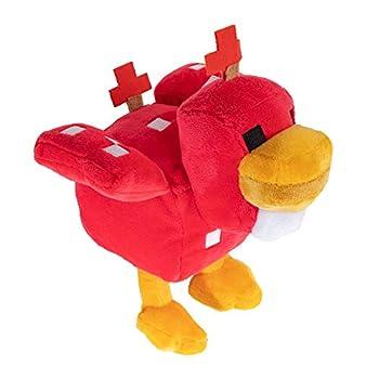 JINX Minecraft Earth Happy Explorer Cluckshroom Chicken Plush Stuffed Toy Multi-Colored 7  Tall