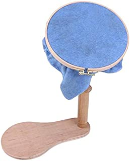 Dia21cm 360 Degree Rotation Wooden Embroidery Frame Rotatable Hoop Cross Stitch Frame High Adjustable