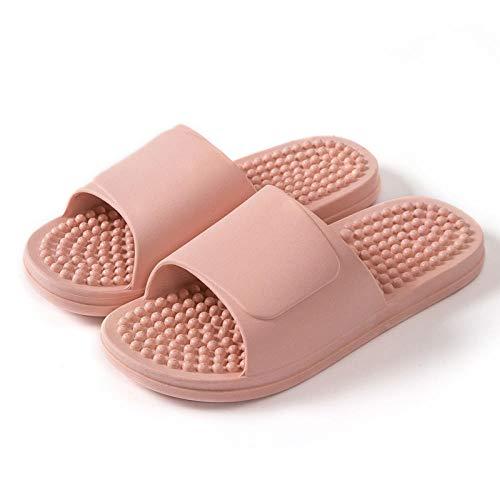 CCFF Zapatillas Antideslizantes Punta Abierta, Zapatillas de Masaje Antideslizantes para baño Interior de Verano-Rosa_42-43 [Recomendación 41-42 Yardas],Interior Baño Antideslizantes Zapatillas,