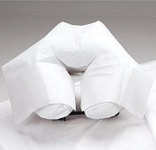 ZMDREAM Disposable Massage Headrest Covers Face Rest Cradle Covers 100 count White