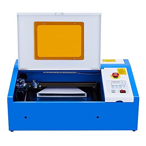 Orion Motor Tech 40W 300 X 200mm Grabador de Láser con USB Universal Mini Máquina de Grabado de Láser CO2 Laser Engraving Profesional para Vidrio, Madera, Plástico, Metal