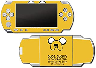 Jake Finn Adventure Time Explore Dungeon Video Game Vinyl Decal Skin Sticker Cover for Sony PSP Playstation Portable Original Fat 1000 Series System