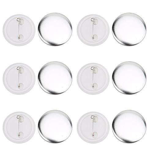 100 pezzi 37 mm Pin pulsante badge Distintivo di pulsante rotondo Kit badge spilla grande in plastica trasparente per Bricolage e fai da te