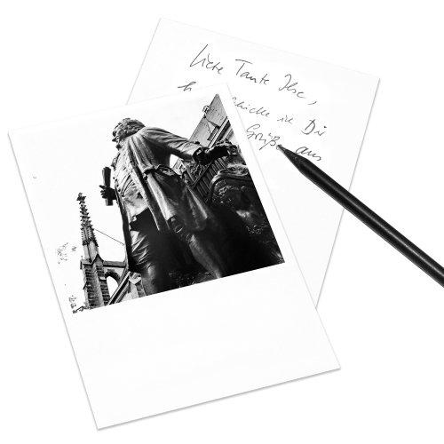 COGNOSCO Postkarte Leipzig im Polaroid-Look - Motiv: Bach-Denkmal