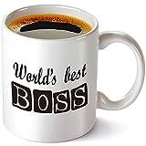 El mejor jefe del mundo Taza-11 Oz Taza divertida de la cafetera, la oficina Michael Scott Taza, COOL TVPROPS ¿La taza de la oficina? Dichos sarcásticos humorísticos.