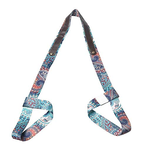 Gouen Comfortabele draagbare drager Schouder Draaggordel Gym Tool Yogamat Band Print wasbaar, M