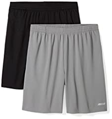 """Train in confidence with this pack of two lightweight shorts made with quick-dry, moisture-wicking, closed-hole mesh Loose fit is designed for all day comfort and full range of motion Internal drawcord, reflective logo, 8"""" inseam Sport made better: w..."""
