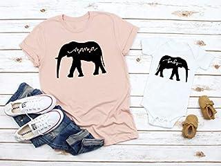 Mommy and Me Shirt Set Mama Elephant Baby Shirts Mother and Daughter Shirts Mothers Day Shirts Mothers Day Gift Mommy and Me Outfits