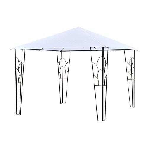 Outsunny 10' x 10' Outdoor Decorative Garden Gazebo Patio Canopy Steel Frame - Cream